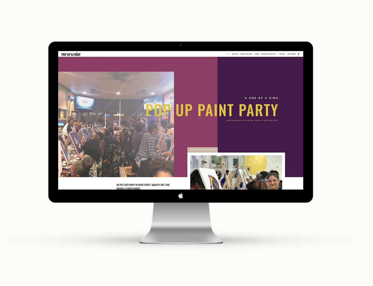 Paint Party Website