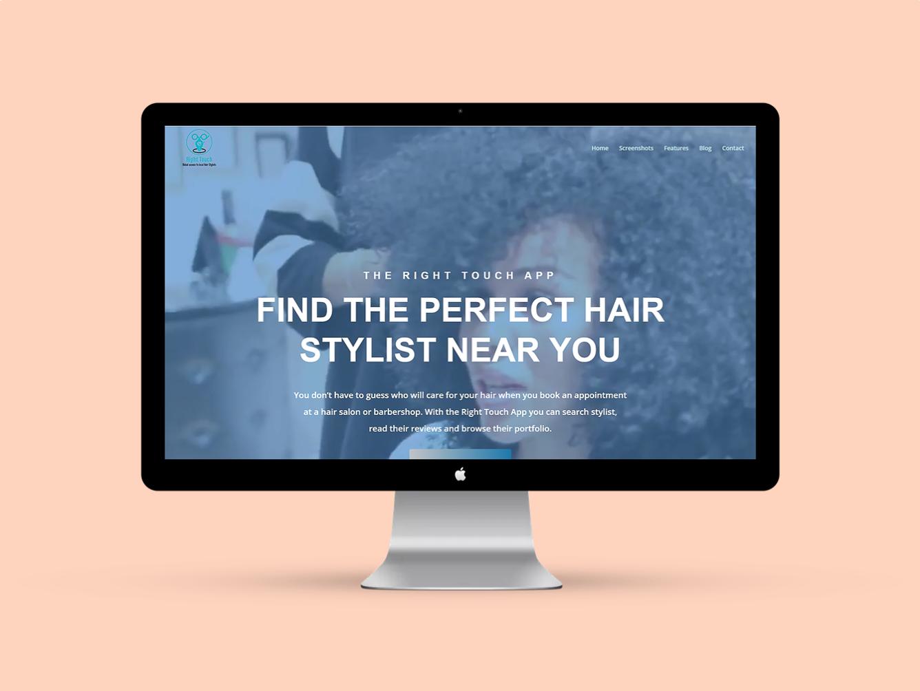 Hair Directory App Landing Page